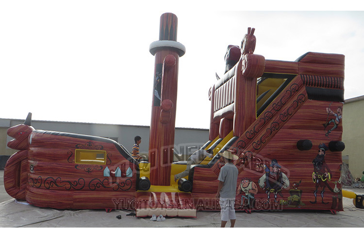 YUQI-Buy Bounce House, Inflatable Pirate Bouncing Slide Combo Boat