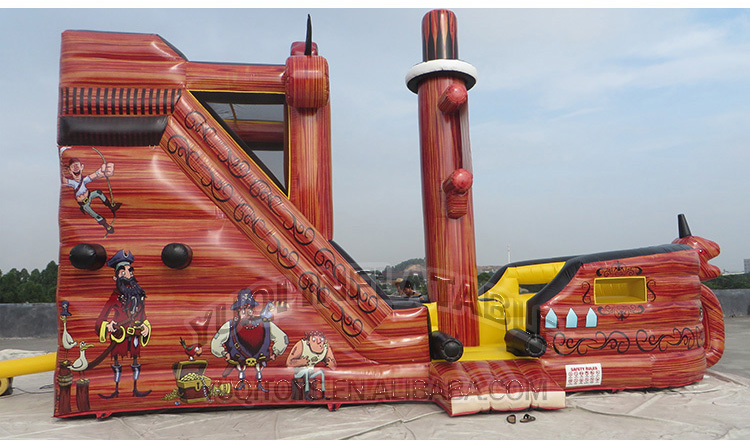 YUQI-Buy Bounce House, Inflatable Pirate Bouncing Slide Combo Boat-1