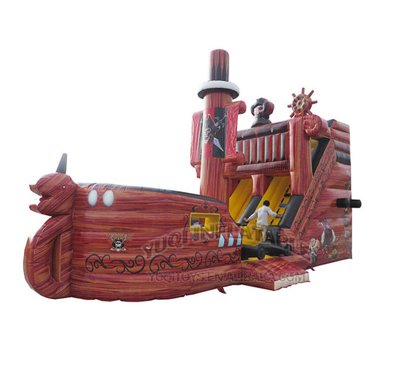 Inflatable pirate bouncing slide combo boat