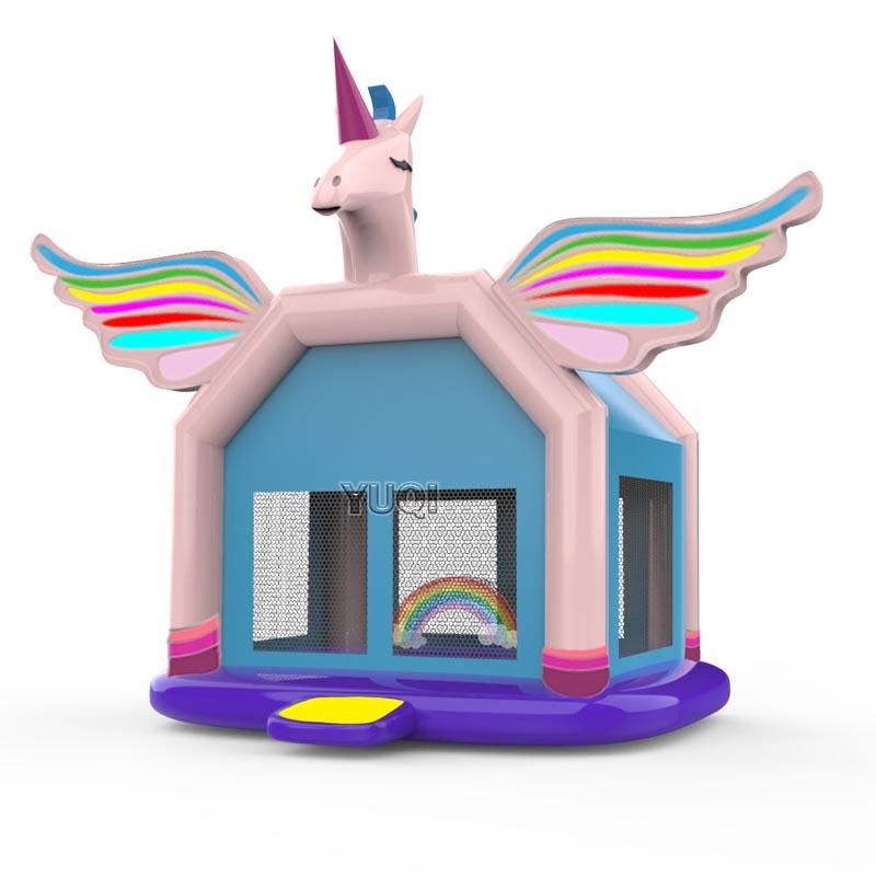 YUQI high quality certificate inflatable unicorn bounce house for sale