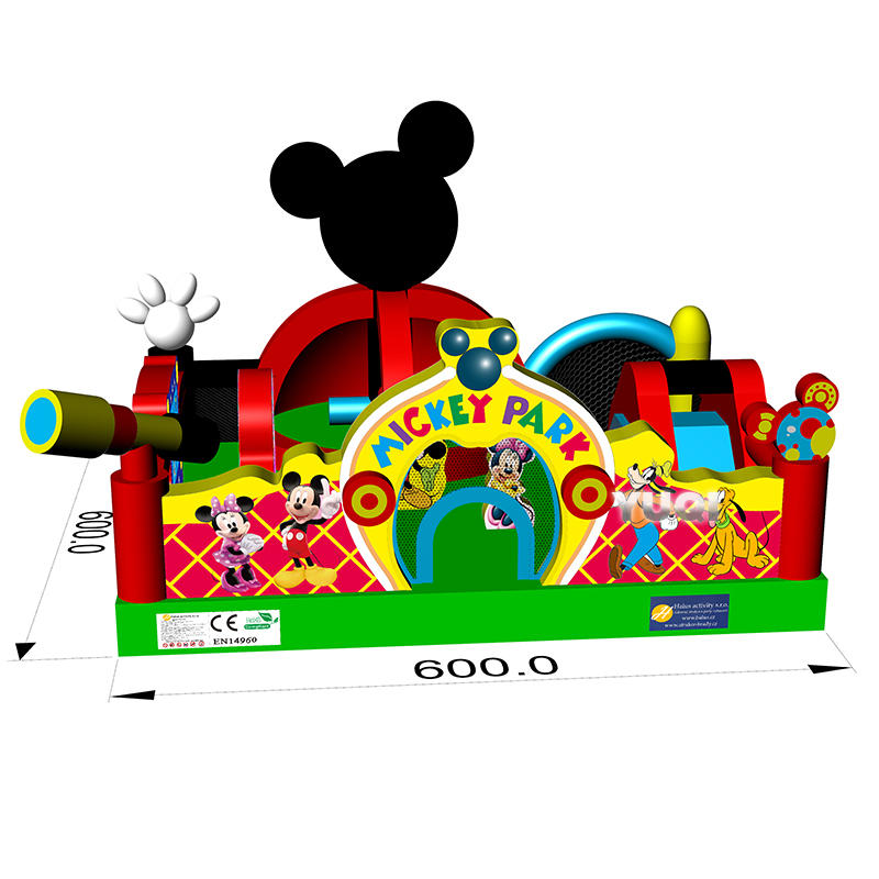 YUQI factory New house inflatable bouncer Micky mouse for kids