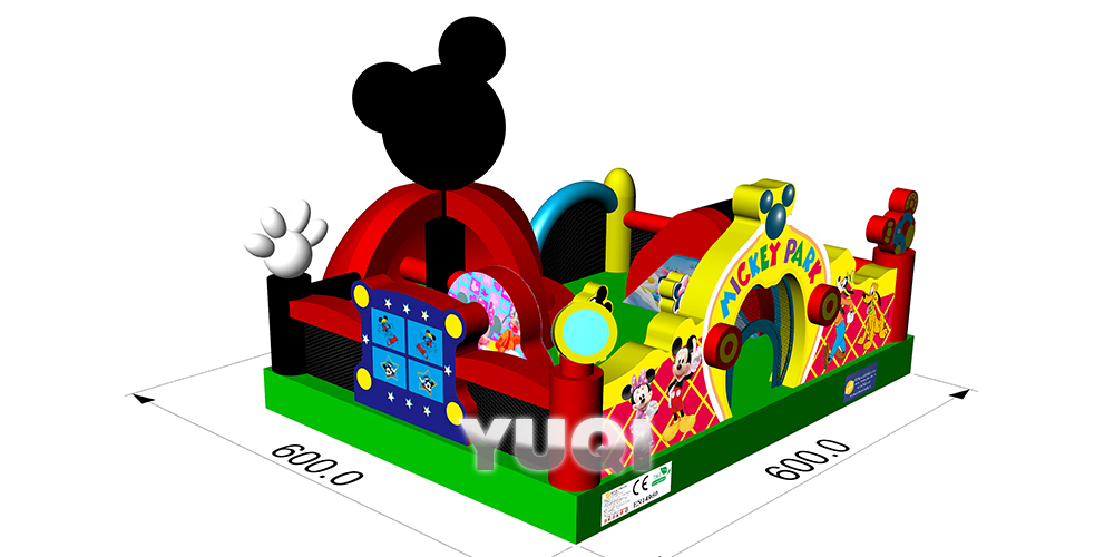 YUQI-Inflatable Water Park Yuqi Factory New House Inflatable Bouncer
