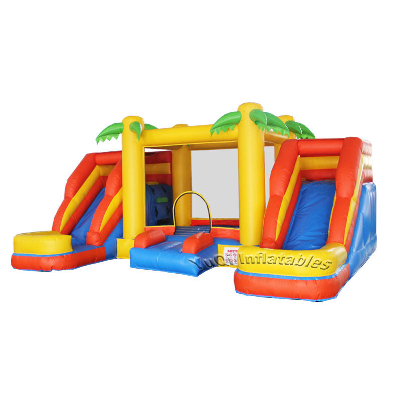 YUQI High quality inflatable water bouncy castle slide for sale