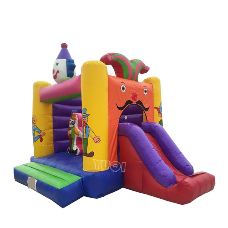 Best quality clown inflatable bouncer inflatable slide combo for sale