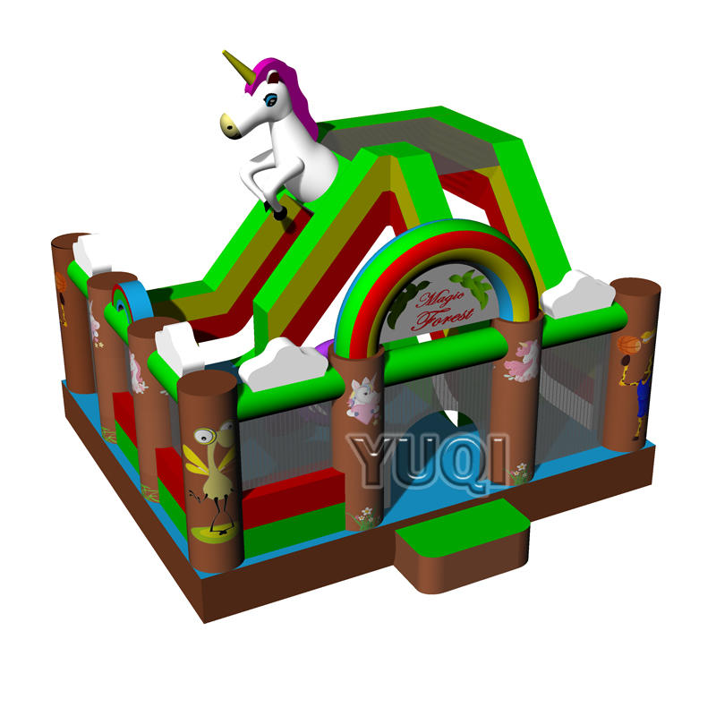 New design inflatable bouncer inflatable Unicorn bouncy slide for kids