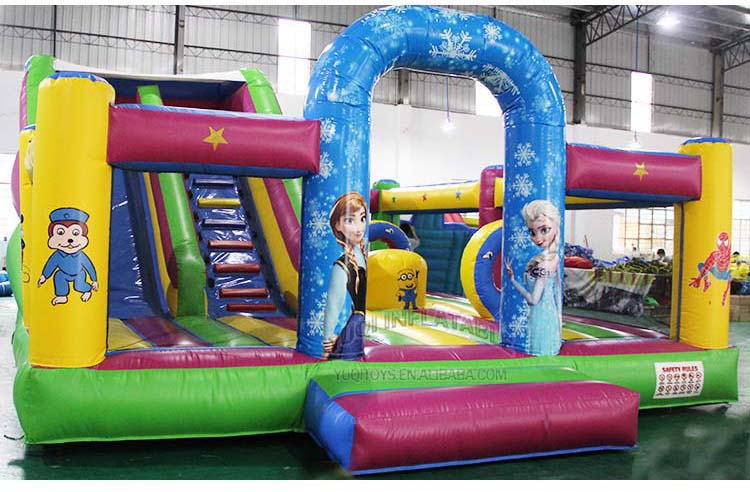 YUQI-Best Inflatable Assault Course Crazy Challenge Inflatable-8