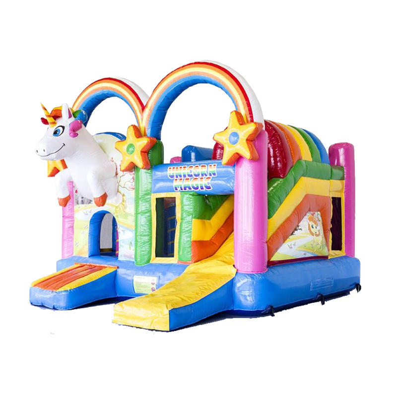 YUQI inflatable bouncer slide combo inflatable Unicorn bouncer for sale