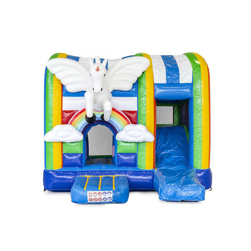 YUQI Unicorn inflatable bouncer slide combo inflatable slide for sale