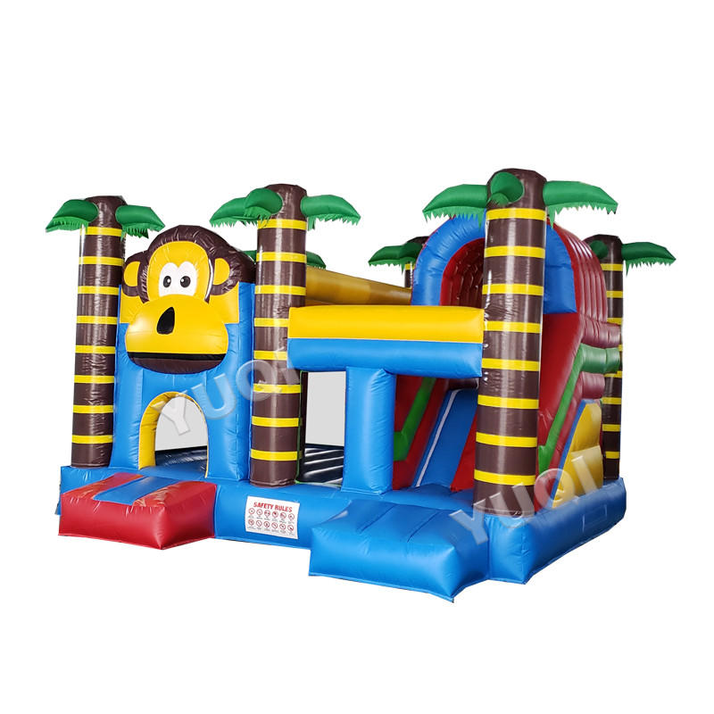 YUQI factory monkey inflatable jumping castle bouncer slide for sale