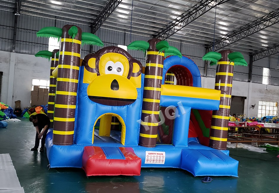 product-YUQI-YUQI factory monkey inflatable jumping castle bouncer slide for sale-img