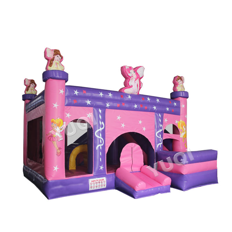 YUQI jumping castle inflatable princess bouncy castle games children's