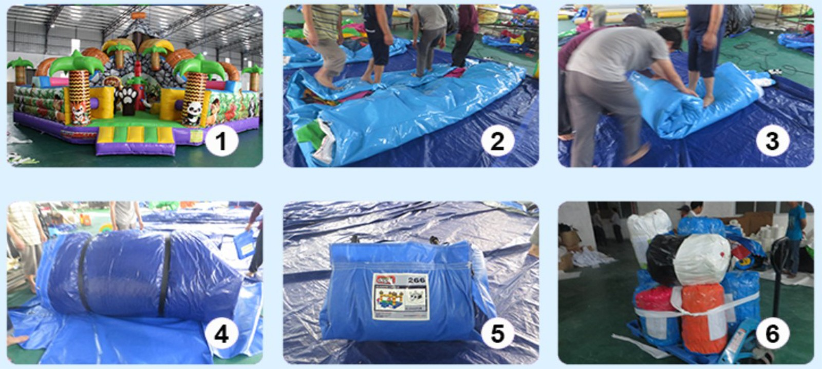 product-YUQI-YUQI Shark inflatable water land park inflatable slide with pool-img-1