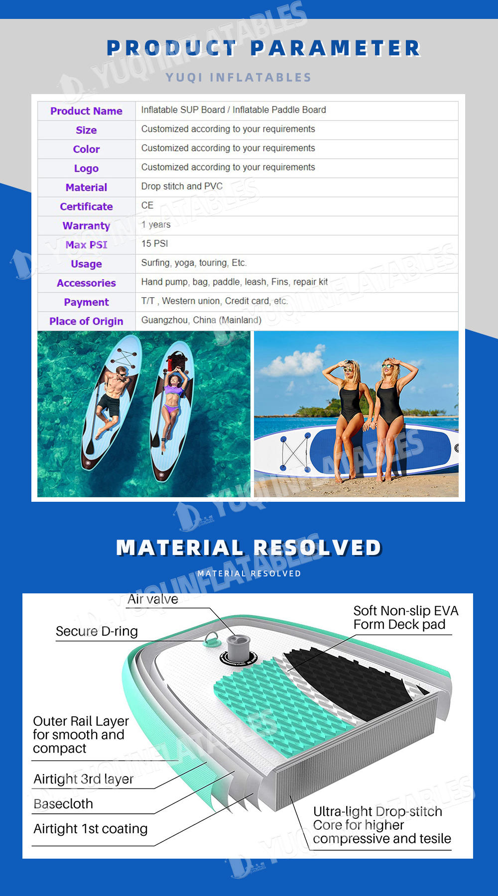 product-11ft Paddle Board Inflatable Paddle Boards for Adults Inflatable Sup Inflatable Stand Up Pad
