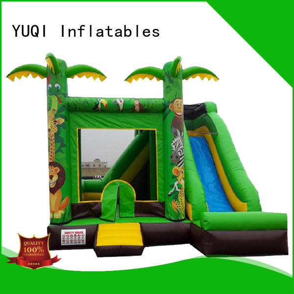 YUQI combo houses with water slides wholesale for carnivals