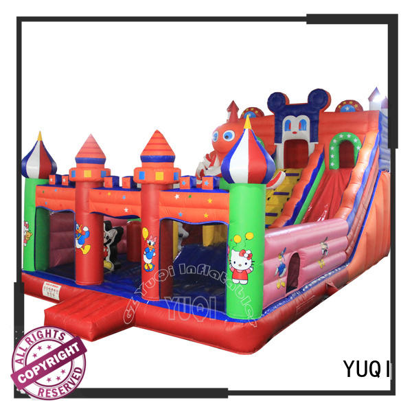 YUQI commercial inflatable water obstacle course manufacturer for adult