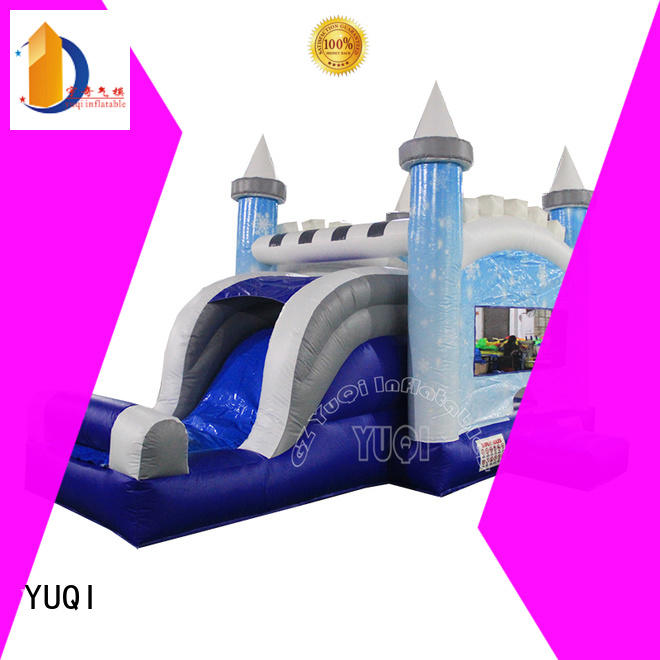 Quality YUQI Brand water slide bounce house for adults mickey dinosaur