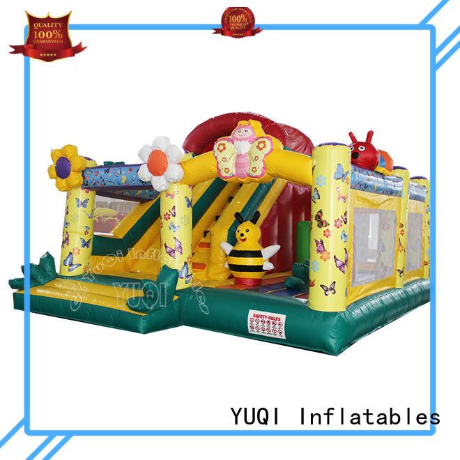 cute frozen bounce house waterslide combo for sale soldier YUQI